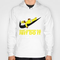 homer Hoodies featuring Homer Lazy by Maxvtis