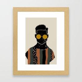 Black Hair No. 7 Framed Art Print
