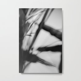 Black and white abstract, lines and blur Metal Print
