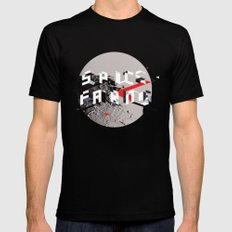 Space Faring (Moon) MEDIUM Mens Fitted Tee Black