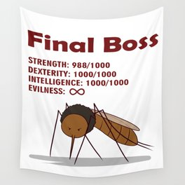 Final Boss - Red Letters Wall Tapestry