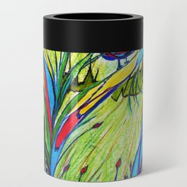 Peacock In Dreamland Can Cooler