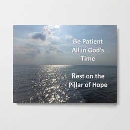 All in God's Time Metal Print
