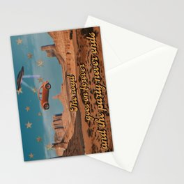 The road goes on forever Stationery Cards