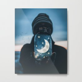 Moon Jar by GEN Z Metal Print