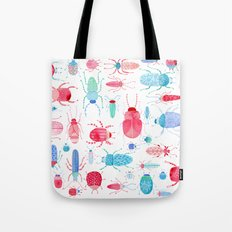 Watercolor Beetles Tote Bag