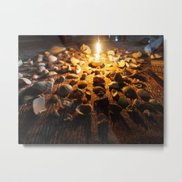Coastal Candlelight Metal Print