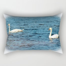 Two Mute Swans Rectangular Pillow