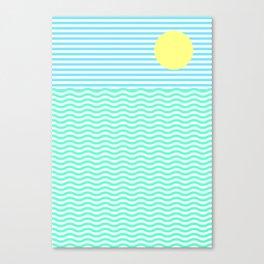 Coastline (Sunrise Blue) Canvas Print