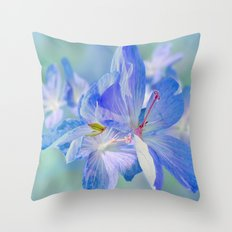 FLOWERS - Geranium endressii Throw Pillow