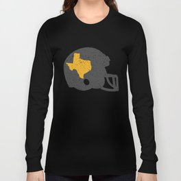State of Shape of Texas Football Helmet Long Sleeve T-shirt