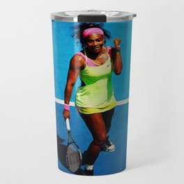 Serena Williams Tennis Celebrating Travel Mug