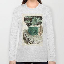 Vintage Mineralogy Illustration Long Sleeve T-shirt