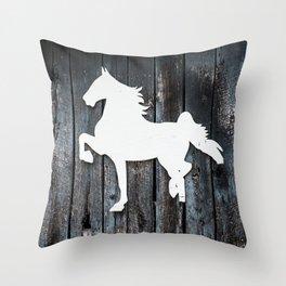 kentucky horse Throw Pillow