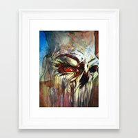 evil eye Framed Art Prints featuring Evil Eye by The Notorious Gasoline Company