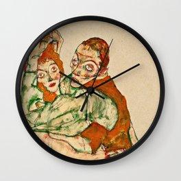 Egon Schiele - Lovemaking Wall Clock