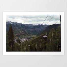 Telluride gondolas Art Print