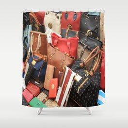 Women's Designer Handbags Shower Curtain