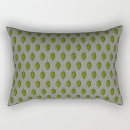 Hops Gray Pattern Rectangular Pillow
