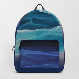 Alcohol Ink Seascape 3 - Sea at Night Backpack