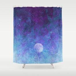 Violet Galaxy: Lunar Eclipse Shower Curtain
