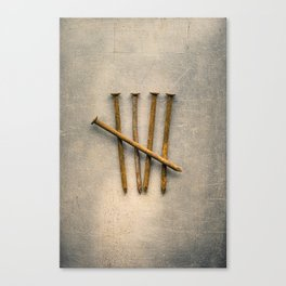 Five Rusty Nails Tally Mark Canvas Print