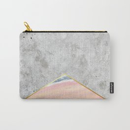 Concrete Arrow Pink Marble #289 Carry-All Pouch
