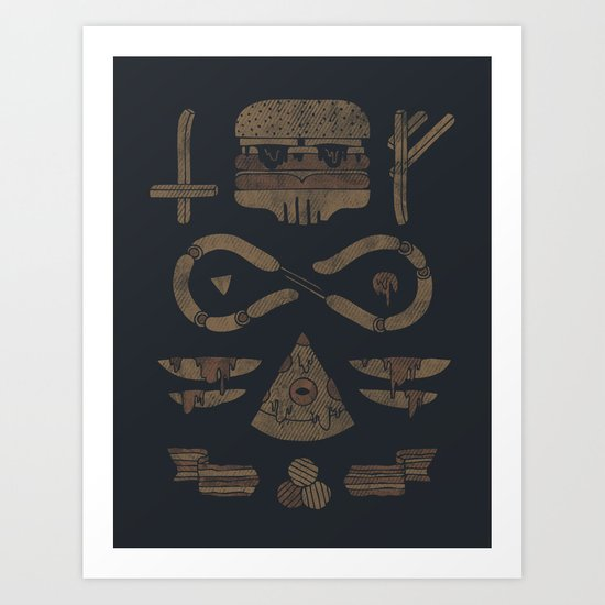 Fast Food Occult Art Print