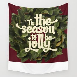 Tis the season to be jolly - holiday quote - christmas - instant download - seasonal - wall decor -  Wall Tapestry
