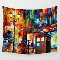 thorin Wall Tapestries featuring Tardis Painting by Thorin