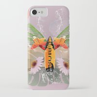 surfboard iPhone & iPod Cases featuring Surfing, sunglasses with surfboard  by nicky2342