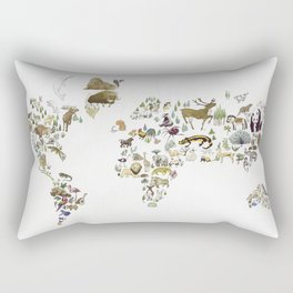 Animal Map Rectangular Pillow