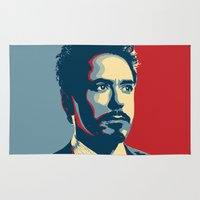 sansa stark Area & Throw Rugs featuring Tony Stark by Cadies Graphic