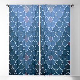 Blue Scales Blackout Curtain