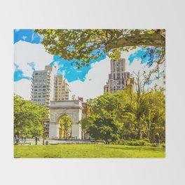 Washington Square Park - Art Throw Blanket