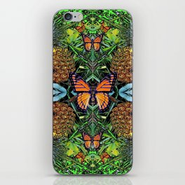 MONARCH BUTTERFLY PINEAPPLE ABSTRACT PATTERN iPhone Skin