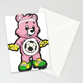 SOCCER Player TEDDY Bear Son Daughter Pit Cleats Stationery Cards