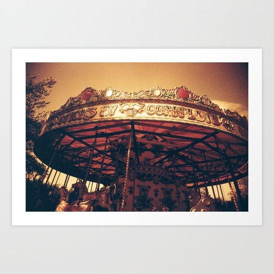 Redscale Carousel Art Print
