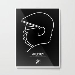 Notorious Metal Print