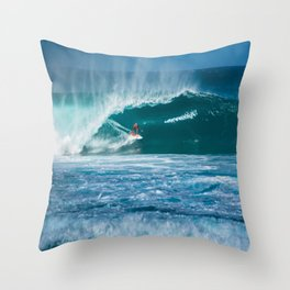 Surfing Hawaii Throw Pillow