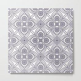 Modern Abstract Flower Pattern Metal Print