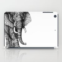 ornate elephant iPad Cases featuring Ornate Elephant v.2 by BIOWORKZ