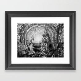 Temporary station Framed Art Print