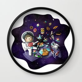 Space bites Wall Clock