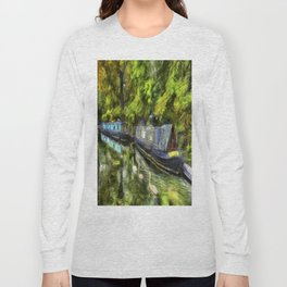 Narrow Boats Little Venice art Long Sleeve T-shirt