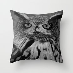 Owl B&W Throw Pillow