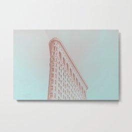 NYC Flat Iron Light Glow Metal Print
