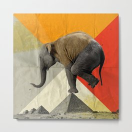 Balance of the Pyramids Metal Print