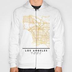 LOS ANGELES CALIFORNIA CITY STREET MAP ART Hoody