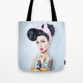 Pinup cool woman Tote Bag